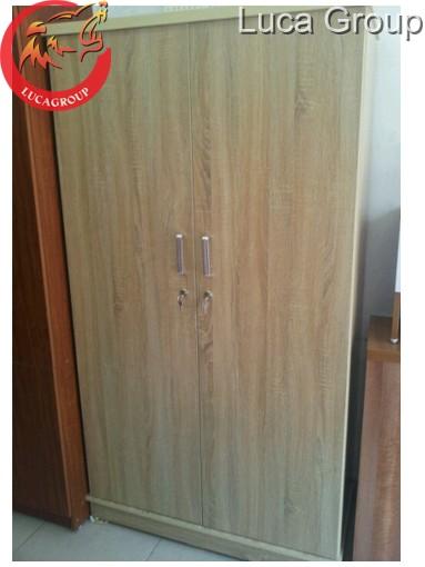 Tủ quần áo hai buồng bằng gỗ MFC