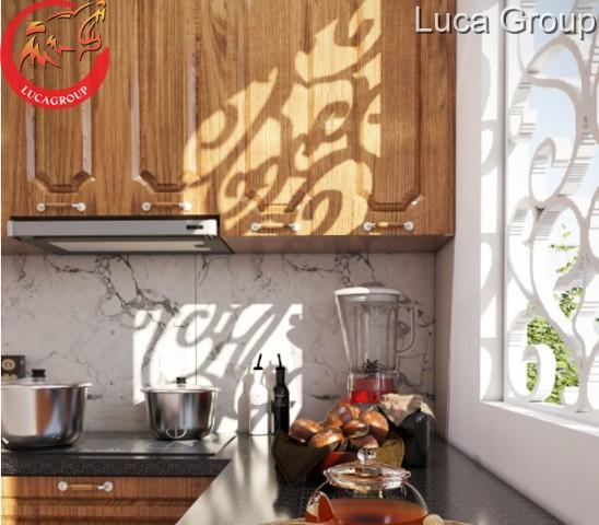 Tủ Bếp Bằng Gỗ Tự Nhiên Màu Đẹp